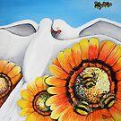 Birds & Bees by lynzart
