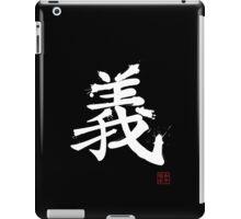 Kanji - Righteousness in white iPad Case/Skin