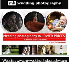 Wedding Photography in Lower Prices by mkphotographyuk