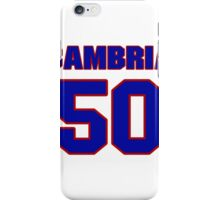 National baseball player Fred Cambria jersey 50 iPhone Case/Skin