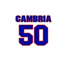National baseball player Fred Cambria jersey 50 Photographic Print