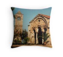 Ancient church view 1 Throw Pillow