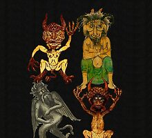 Four Devils in a Row by pyktispix