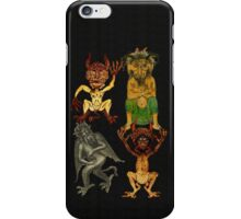Four Devils in a Row iPhone Case/Skin