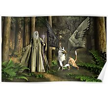 The Wizard and The Gryphon Poster