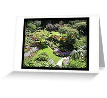 Butchart Gardens. Canada. Greeting Card