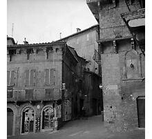 Street corner Siena Photographic Print