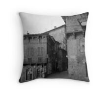 Street corner Siena Throw Pillow