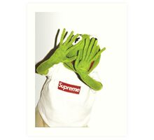 Kermit for Supreme Media Cases, Pillows, and More. Art Print