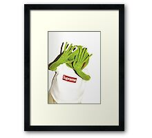Kermit for Supreme Media Cases, Pillows, and More. Framed Print