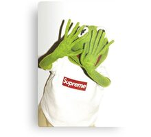 Kermit for Supreme Media Cases, Pillows, and More. Metal Print