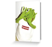 Kermit for Supreme Media Cases, Pillows, and More. Greeting Card