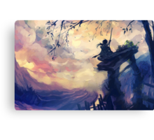 The boy who loved heights Canvas Print