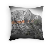 Mt. Wilson No. 2, Red Rock Canyon Throw Pillow