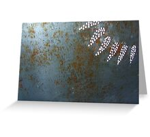 steel rays Greeting Card
