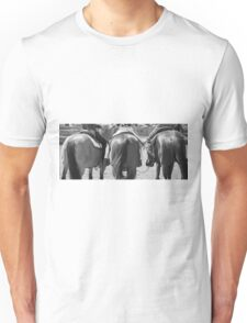 Rodeo Bums - Black and White Unisex T-Shirt