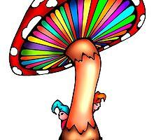 Psychedelic Mushroom by Octavio Velazquez