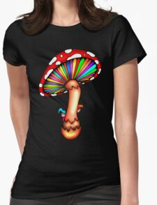 Psychedelic Mushroom Womens Fitted T-Shirt