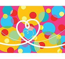 Color Pop Dots and Loopy Hearts  Photographic Print