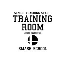 Smash School Training Room (Black) Photographic Print