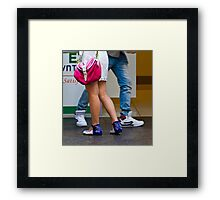 Blue Heels Framed Print