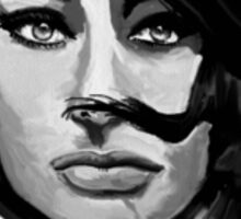 SOPHIA LOREN (digital painting) Sticker