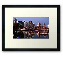 Melbourne City lights Framed Print