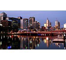 Melbourne City lights Photographic Print