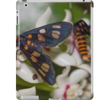 Hoya australis with native Tiger Moths iPad Case/Skin