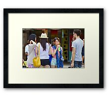 Short Skirt! Framed Print