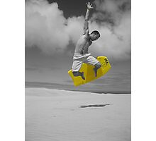 sandboarding man Photographic Print