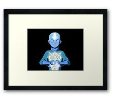 Avatar The Last Airbender Aang's Avatar State With Raava Framed Print