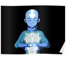 Avatar The Last Airbender Aang's Avatar State With Raava Poster
