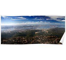 Mt. Wellington Panoramic Brid's Eye View Of Hobart Poster