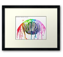 infect your soul with words Framed Print