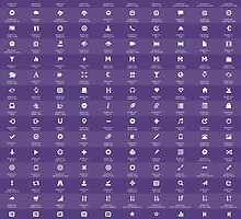 Bootstrap Glyphicons Cheatsheet (v3.3.1) by jamescroft