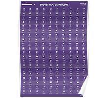 Bootstrap Glyphicons Cheatsheet (v3.3.1) Poster