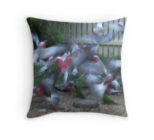 Galahs In Flight Throw Pillow