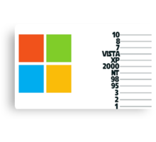 Counting by Microsoft Canvas Print