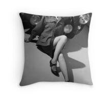 Austin Healey pinup girl Throw Pillow