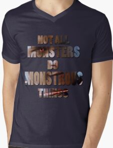 Not All Monsters Do Monstrous Things [Scott Alpha] Mens V-Neck T-Shirt