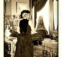 Vintage Victorian Bustle Skirt and Hat creation by patjila