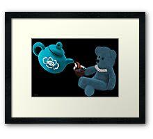 ☀ ツ TEA TIME TEDDY BEAR PICTURE/CARD ☀ ツ Framed Print