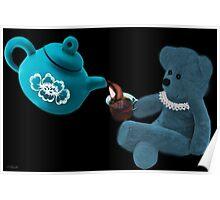 ☀ ツ TEA TIME TEDDY BEAR PICTURE/CARD ☀ ツ Poster