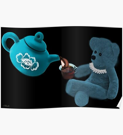☀ ツ TEA TIME TEDDY BEAR PICTURE/CARD ☀ ツ Poster