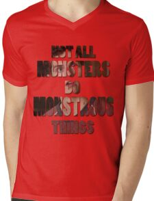 Not All Monsters Do Monstrous Things [Isaac Lahey] Mens V-Neck T-Shirt