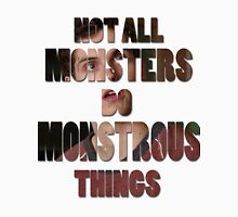 Not All Monsters Do Monstrous Things [Isaac Lahey] Men's Baseball ¾ T-Shirt