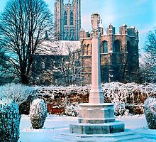 Canterbury Cathedral in Snow 1961 2 by Priscilla Turner