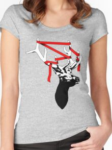 Stag-nant (Red-tape) Women's Fitted Scoop T-Shirt