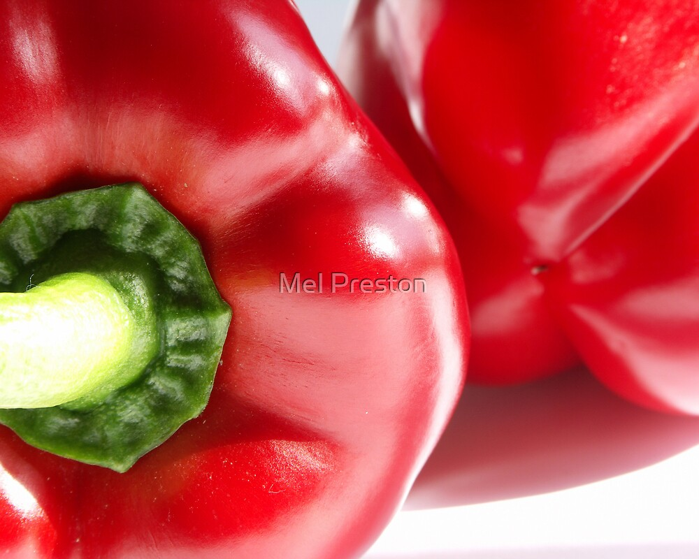 Red Peppers by Mel Preston